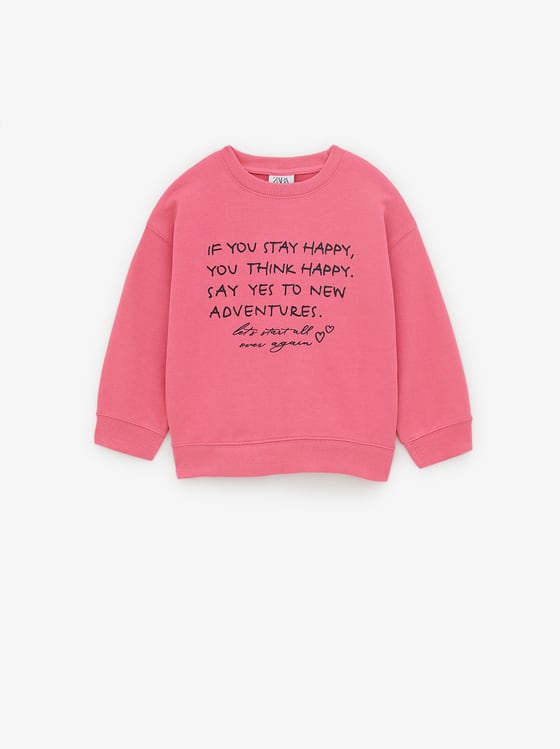 sweat a inscription de Zara sur SCANDALOOK