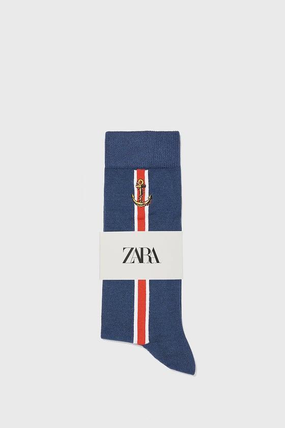 chaussettes mercerisees nautiques de Zara sur SCANDALOOK
