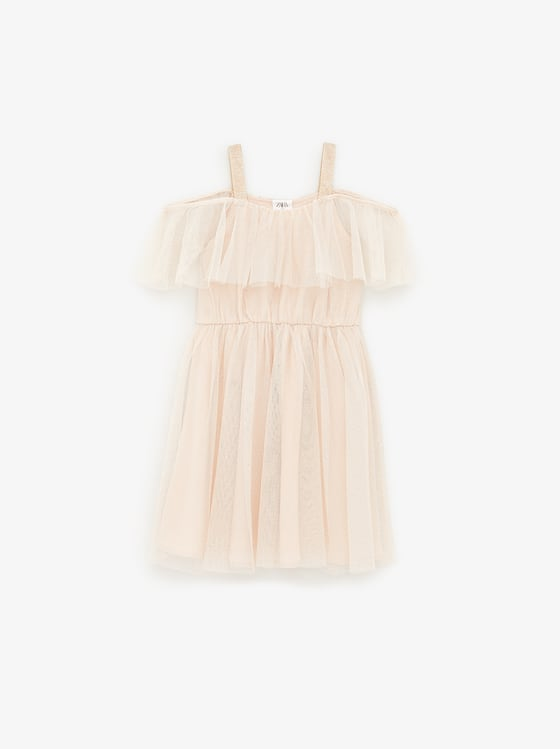 robe en tulle a brillants de Zara sur SCANDALOOK