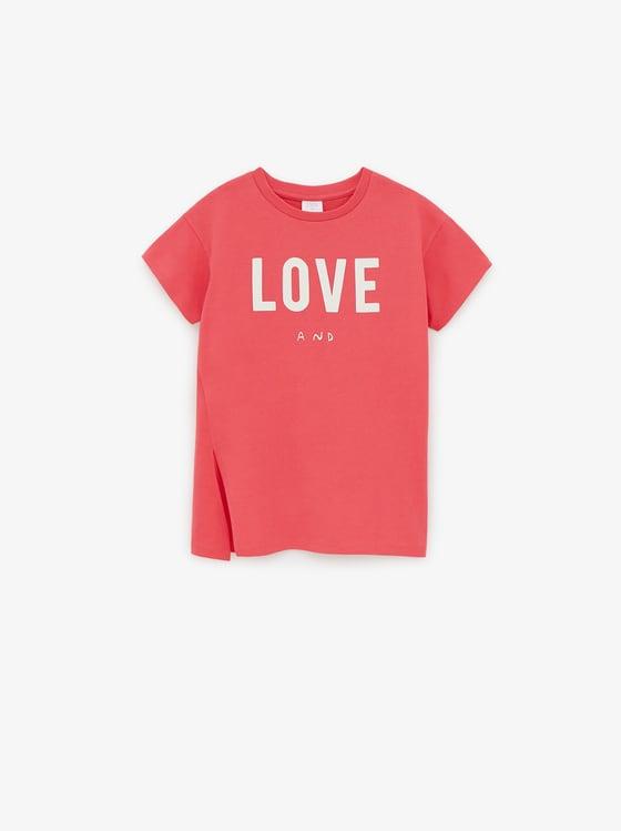 t-shirt long a inscription de Zara sur SCANDALOOK