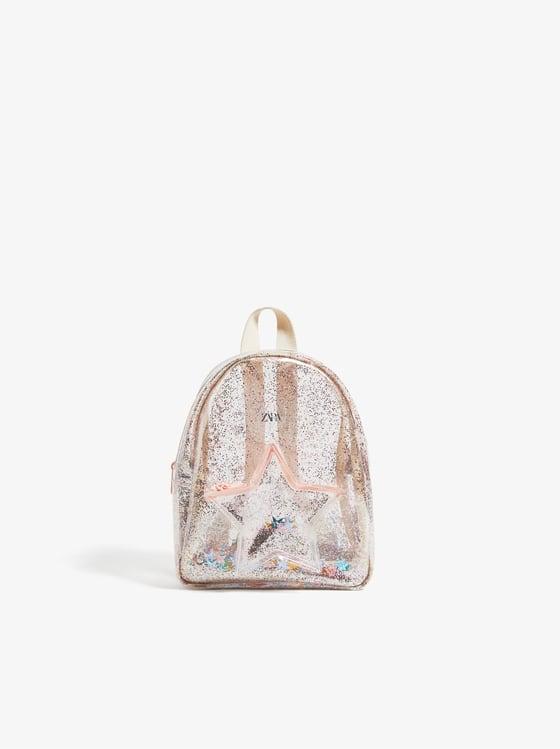 mini sac a dos en vinyle de Zara sur SCANDALOOK