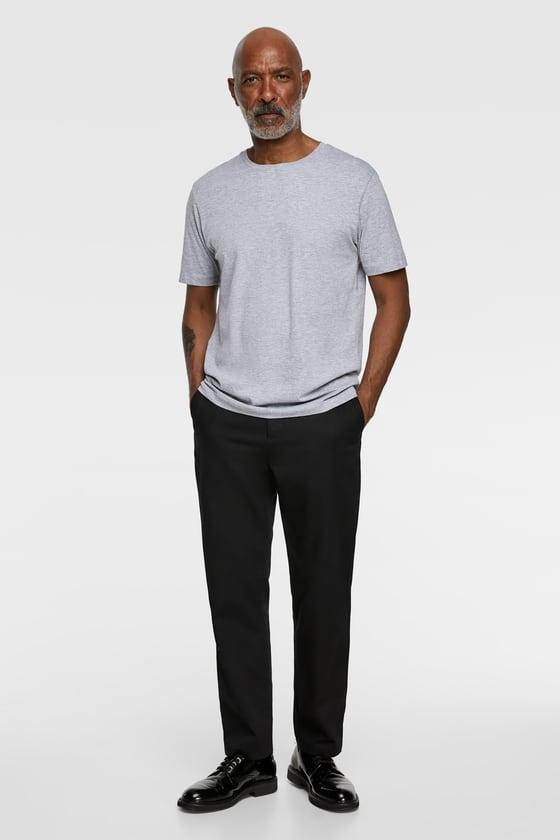 t-shirt basique coupe regular de Zara sur SCANDALOOK