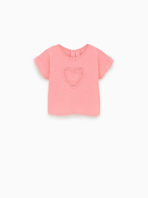 t-shirt a coeur applique de Zara sur SCANDALOOK