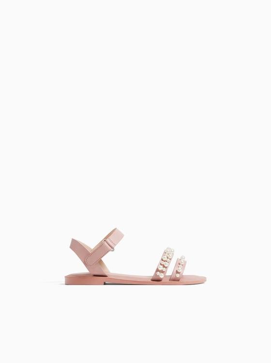 sandales a perles de Zara sur SCANDALOOK