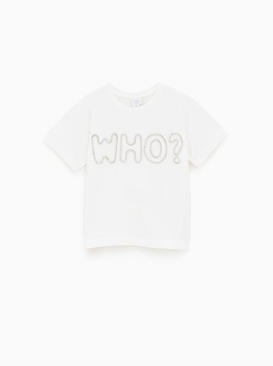 t-shirt brillant a inscription de Zara sur SCANDALOOK