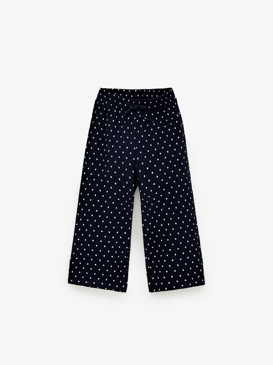 pantalon culotte imprime de Zara sur SCANDALOOK
