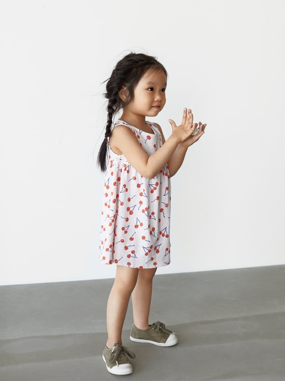 robe a cerises de Zara sur SCANDALOOK