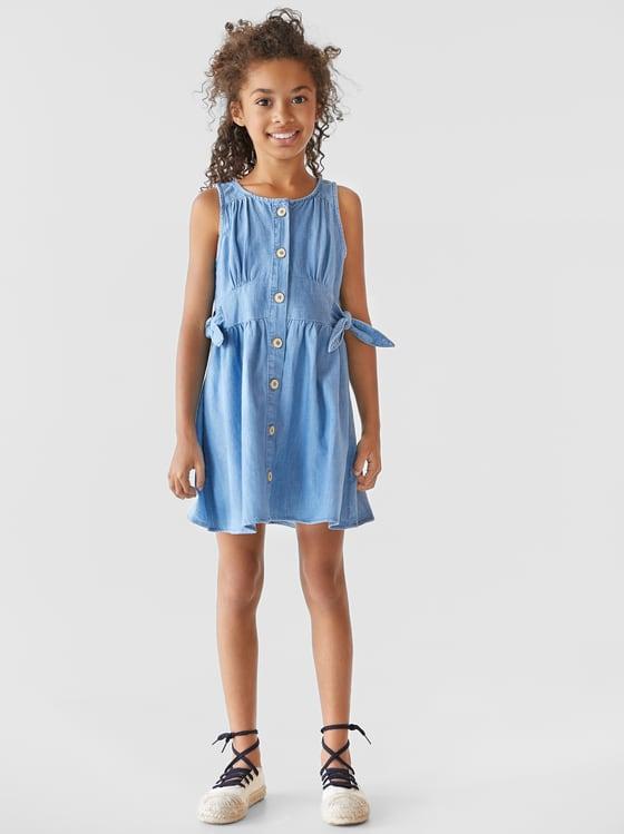 robe en jean a noeuds de Zara sur SCANDALOOK