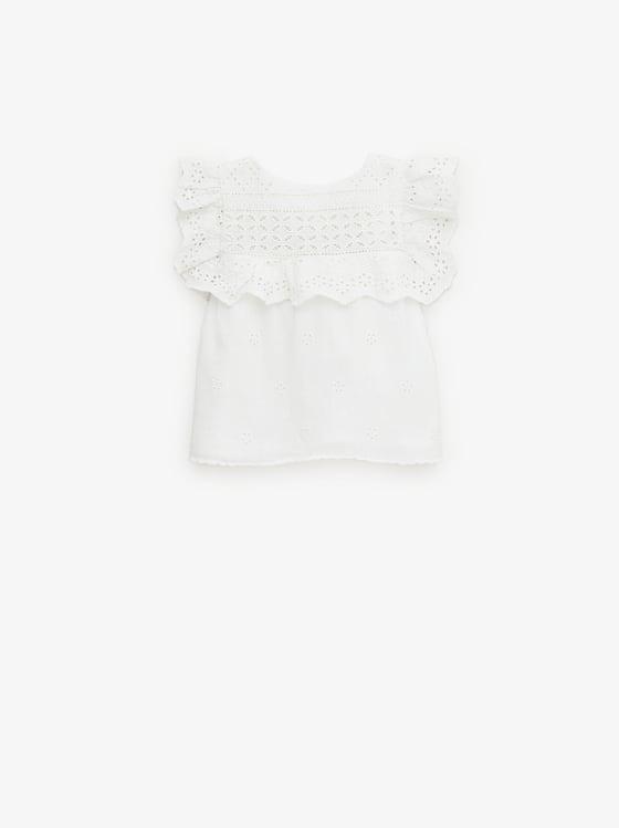 chemise romantique de Zara sur SCANDALOOK