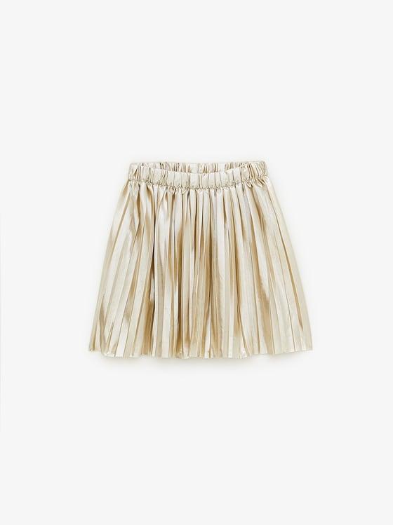 jupe plissee brillante de Zara sur SCANDALOOK