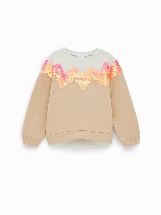 sweat a paillettes double face de Zara sur SCANDALOOK
