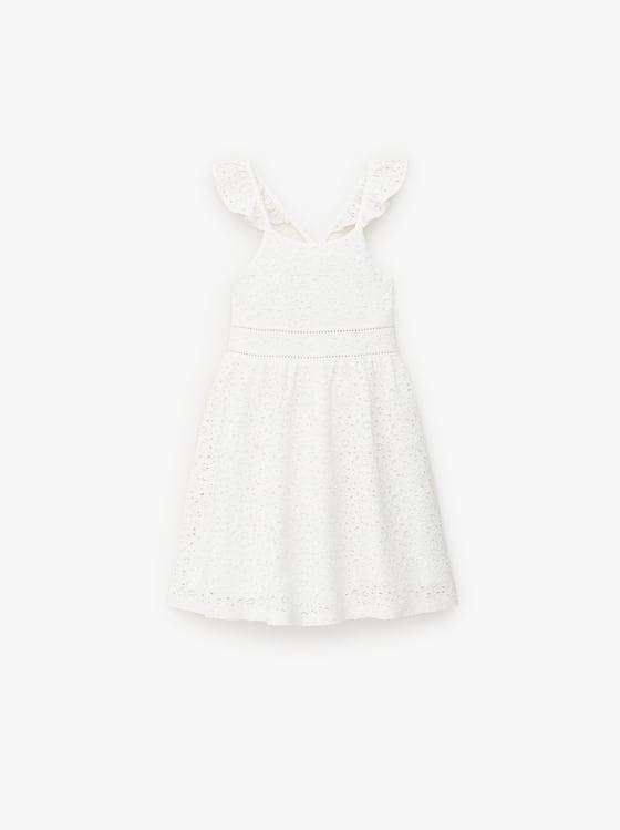 robe en dentelle avec entre-deux de Zara sur SCANDALOOK