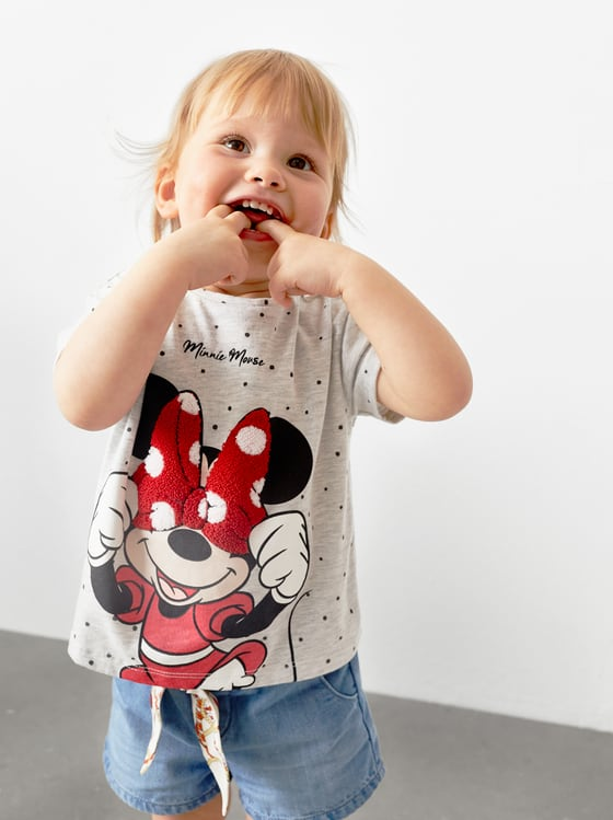 t-shirt minnie mouse de Zara sur SCANDALOOK