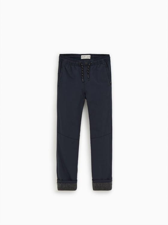 pantalon a doublure polaire de Zara sur SCANDALOOK