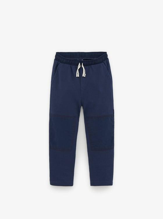 pantalon en pique bimatiere de Zara sur SCANDALOOK