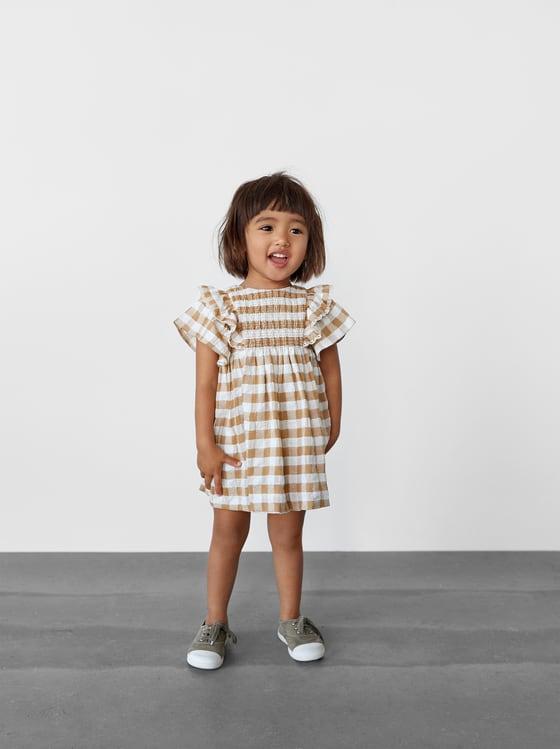 robe a carreaux vichy de Zara sur SCANDALOOK