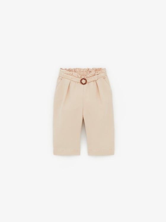 pantalon fluide a boucle de Zara sur SCANDALOOK