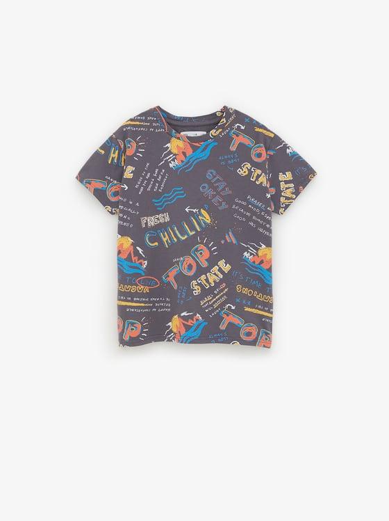 t-shirt imprime de Zara sur SCANDALOOK
