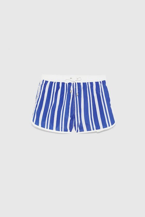 maillot de bain a rayures de Zara sur SCANDALOOK