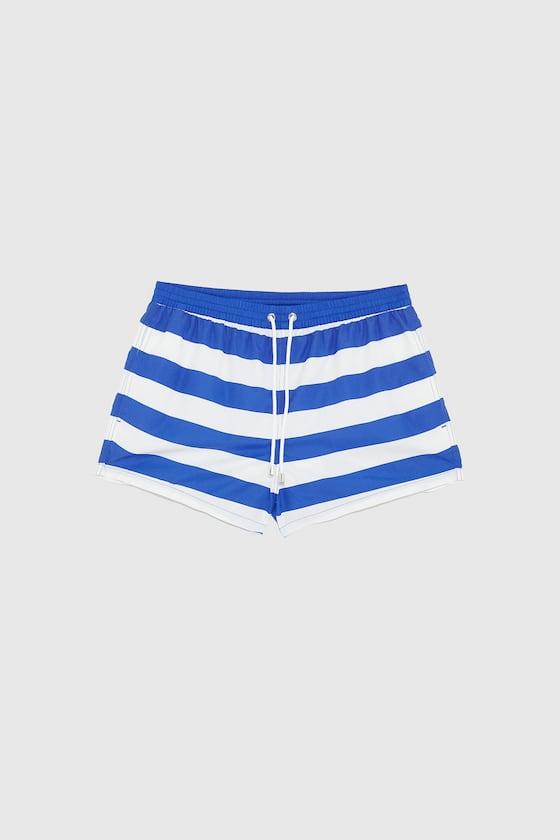 maillot de bain a imprime rayures de Zara sur SCANDALOOK
