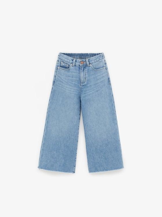 culotte jeans with pockets de Zara sur SCANDALOOK