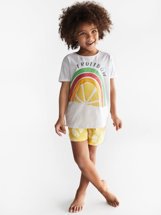 pyjama a arc-en-ciel fruits de Zara sur SCANDALOOK