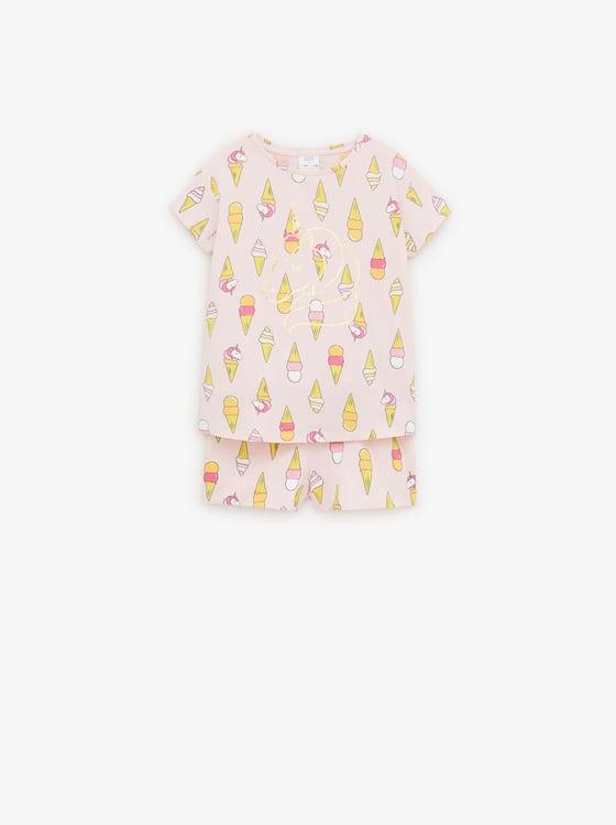 pyjama a glaces et licornes de Zara sur SCANDALOOK