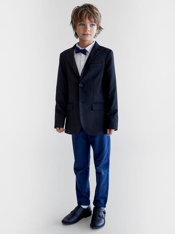 veste de costume bleu marine basique de Zara sur SCANDALOOK