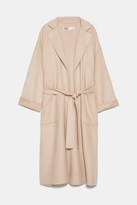 manteau avec poches plaquees de zara