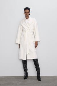 manteau a ceinture de zara