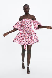 robe imprimee avec ceinture de zara